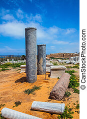 Ancient columns from the Roman period