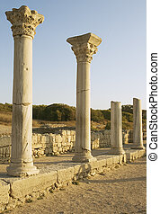 Chersonesos Taurica - Ancient columns of basilica in...