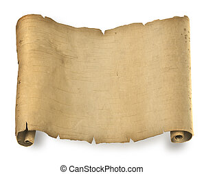 Ancient document - Old ragged manuscript paper or parchment...