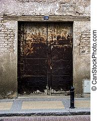 Ancient door, rusty metal