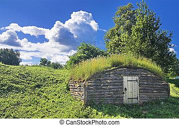 Ancient earth house near