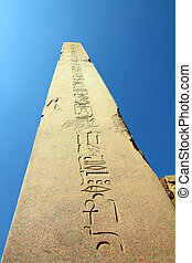 ancient egypt column in karnak temple