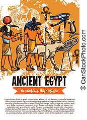 Ancient Egypt gods and animals