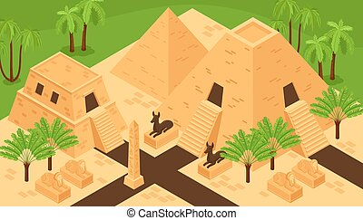 Ancient Egypt Isometric Composition