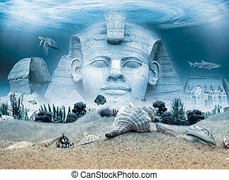 Ancient Egypt landmarks underwater