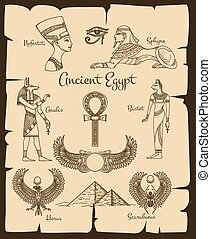 Ancient Egypt vector symbols