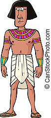 Ancient Egyptian citizen on white background vector...