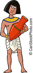 Ancient Egyptian craftsman on a white background vector...