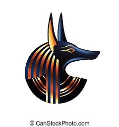 Ancient egyptian god Anubis isolated vector - Ancient...