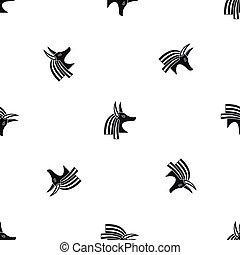 Ancient egyptian god Anubis pattern seamless black - Ancient...