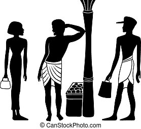 Ancient Egyptian-Greek silhouette