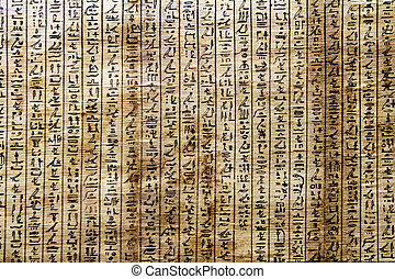 Ancient Egyptian Hieroglyphic writing