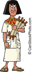 Ancient Egyptian official on a white background vector ...