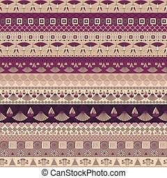 Ancient Egyptian ornament Tribal seamless pattern