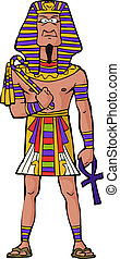 Ancient Egyptian Pharaoh on white background vector...