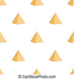 Ancient egyptian pyramid seamless pattern. Old architecture. Cartoon flat style