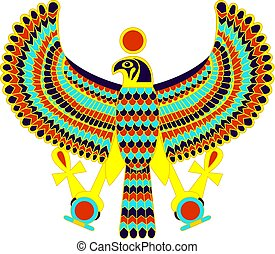 Ancient egyptian symbol of Horus the falcon god.