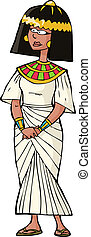Ancient Egyptian woman on white background vector...