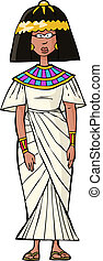 Ancient Egyptian woman on white background vector ...
