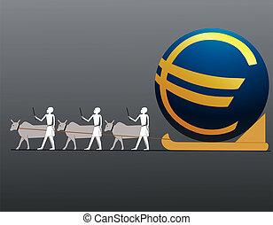 Ancient Egyptians driving big Euro