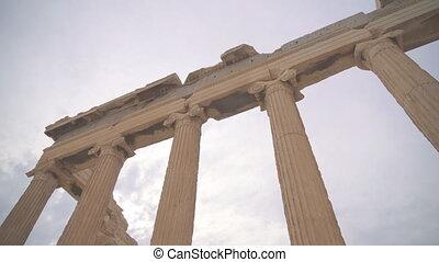 Ancient Erechtheion in the Athenian Acropolis.
