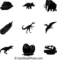 Ancient extinct animals and their tracks and remains....