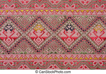Ancient fabric colorful thai silk h