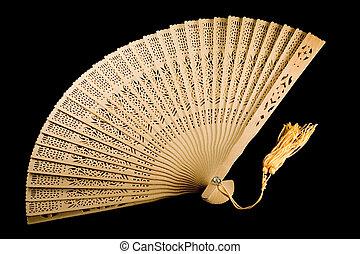 Ancient fan unfolded