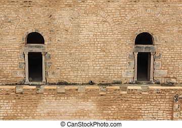 Ancient fort ribat in Sousse - Scenic view to ancient fort...