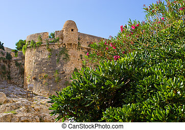 Ancient fortess in Rethymno, Crete, Greece - Ancient fortess...
