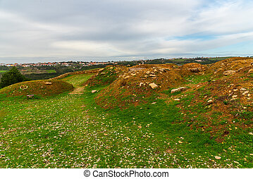 Ancient fortication of zambujal in ericeira Portugal - ...
