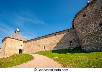 Ancient fortress in Staraya Ladoga