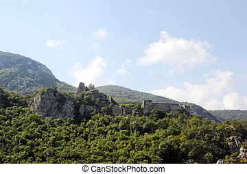 Ancient fortress in the mountains