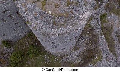 Ancient Fortress Kosmach Near Budva, Montenegro. Aerial...