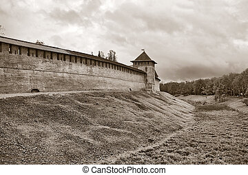 ancient fortress on small hill