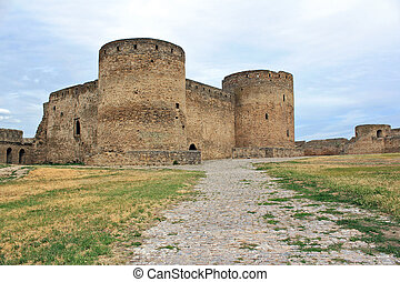 Towers of the Medieval fortress of Akkerman near Odessa in Ukraine