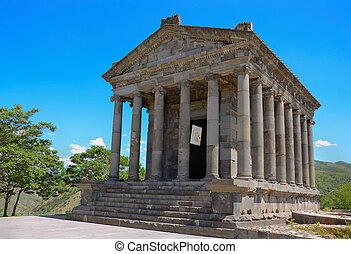 Ancient Garni temple complex. Armenia.