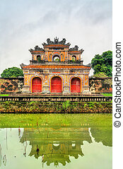 Ancient gate at the Imperial City in Hue, Vietnam
