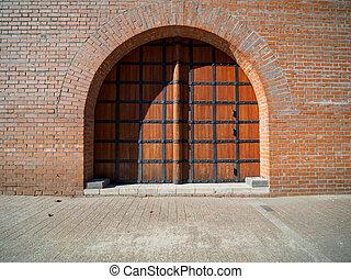 Ancient gate in Kremlin wall