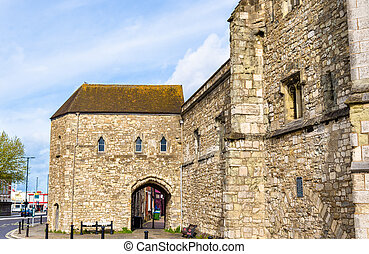 Ancient gate in Southampton - Hampshire, England