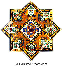 Ancient geometric tiled decor - Vintage wall tiled...