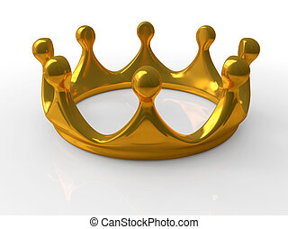 Ancient gold crown a symbol of royal authority 3d