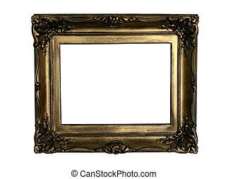 ancient golden frame