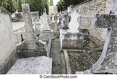 Ancient graves with crosses