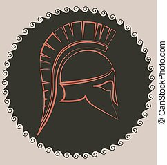 Ancient Greek battle helmet