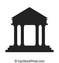 Ancient Greek Building Icon