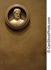 Ancient Greek Bust - An Ancient Greek Bust Plaque Sculpture