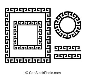 Ancient Greek frame and border - Key pattern form Greece