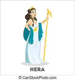 Ancient greek goddess Hera. Mythology god character