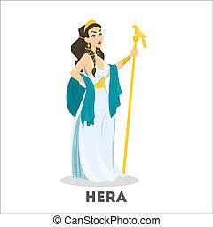 Ancient greek goddess Hera. Mythology god character